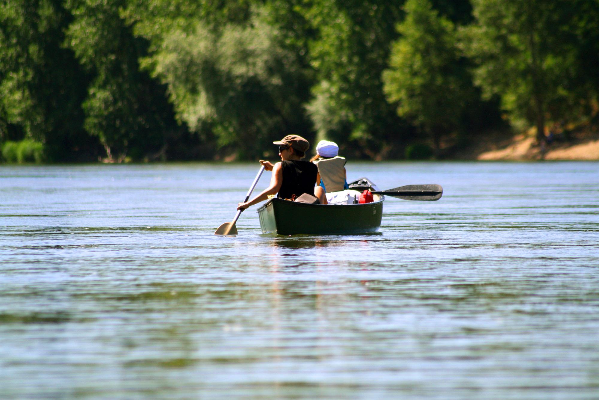 photo Vouvray et canoë de Tours & canoë sur la Loire