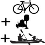 combi vélo visite de cave canoë